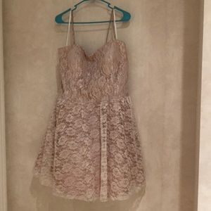 Dresses & Skirts - Nude/Lace Party Cocktail Dress